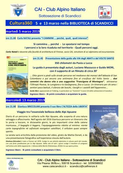 CULTURA 360 - Biblioteca - 5 e 13 marzo
